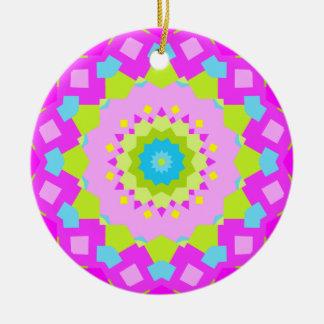 Colorful Kaleidoscope Christmas Ornaments