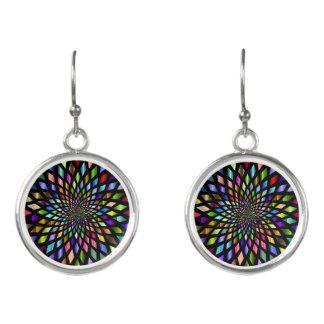 Colorful Kaleidoscope Dangle Earrings