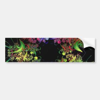 Colorful Kaleidoscope Design Fractal Art Gifts Bumper Sticker