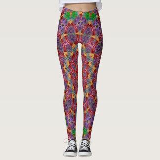 Colorful Kaleidoscope Design Leggings