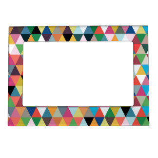 Colorful Kaleidoscope Patterned Magnetic Frame