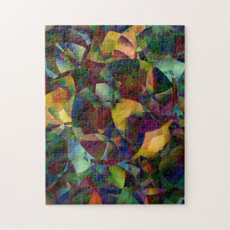 Colorful, Kaleidoscopic Abstract Art Jigsaw Puzzle