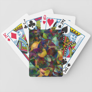 Colorful, Kaleidoscopic Abstract Art Poker Deck