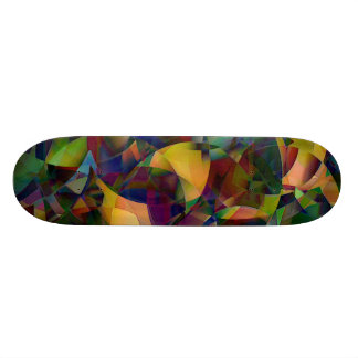 Colorful, Kaleidoscopic Abstract Art Skateboards