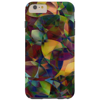 Colorful, Kaleidoscopic Abstract Art Tough iPhone 6 Plus Case