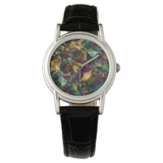 Colorful, Kaleidoscopic Abstract Art Wrist Watch