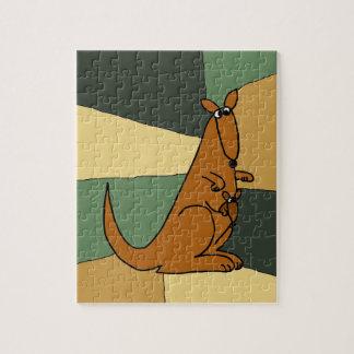 Colorful Kangaroo Art Jigsaw Puzzle