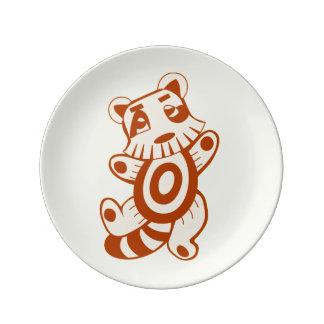 Colorful kawaii cute cartoon character plates porcelain plates