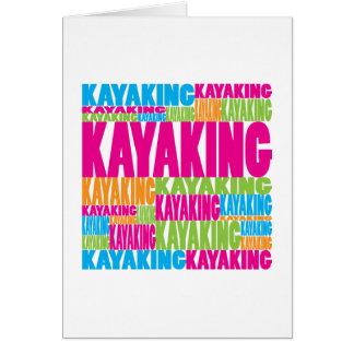 Colorful Kayaking Card