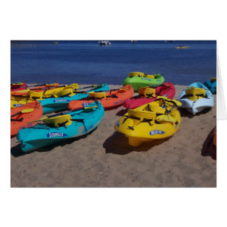Colorful Kayaks Card