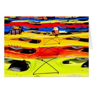 Colorful Kayaks Card