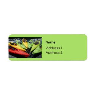 Colorful Kayaks Return Address Label
