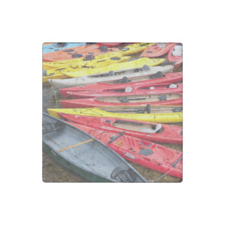 colorful Kayaks Stone Magnet