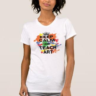 Colorful Keep Calm & Teach Art Tee Shirt
