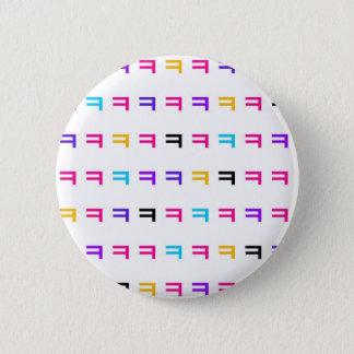 Colorful kekekeke 6 cm round badge