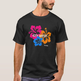 Colorful Key West Florida Hibiscus T Shirt