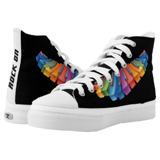 Colorful Keyboard Rock Star High Tops