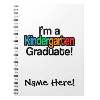Colorful Kids Graduation Kindergarten Graduate Note Book