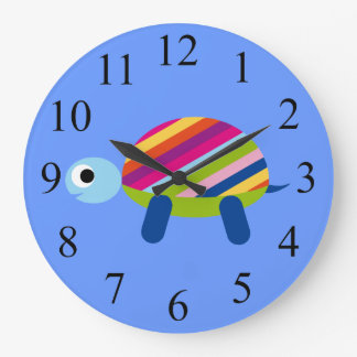 Colorful Kids Turtle Clock