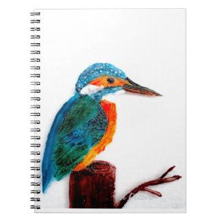 Colorful KIngfisher Bird Notebook