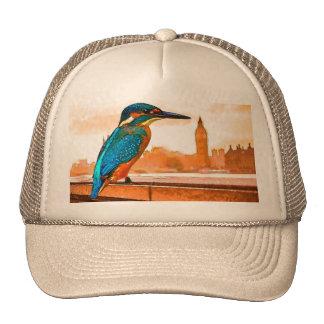 Colorful Kingfisher Bird With London Skyline Cap