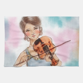 Colorful kitchen towel - Violin