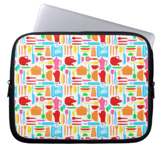 Colorful Kitchen Ware laptop sleeve