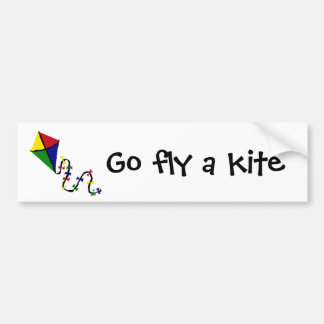 Colorful Kite Flying Art Bumper Stickers