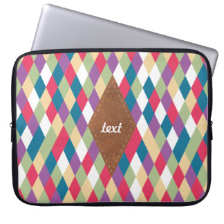 colorful kite pattern laptop sleeve