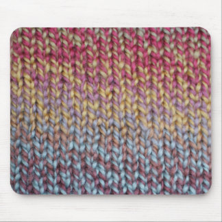Colorful Knit Mouse Pad