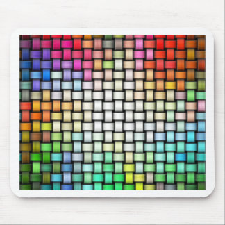 Colorful knitted texture mouse pad