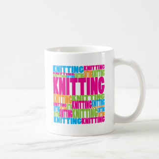 Colorful Knitting Coffee Mugs