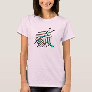 Colorful Knitting Needles and Yarn T-Shirt