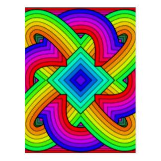 Colorful knots postcard
