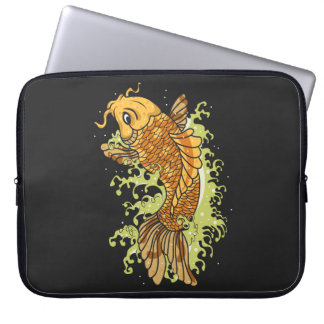 Colorful Koi Illustration Laptop Computer Sleeve
