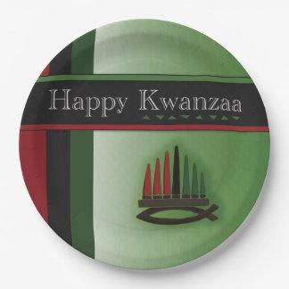 Colorful Kwanzaa Kwanzaa Party Paper Plates