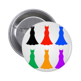 Colorful ladies gowns 6 cm round badge