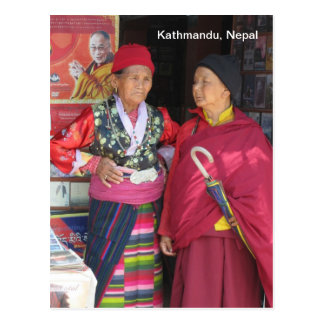 Colorful Ladies in Kathmandu Postcard