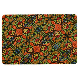 Colorful Ladybug Floral Pattern Floor Mat