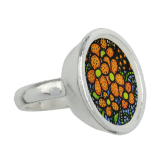 Colorful Ladybug Ring From Original Painting