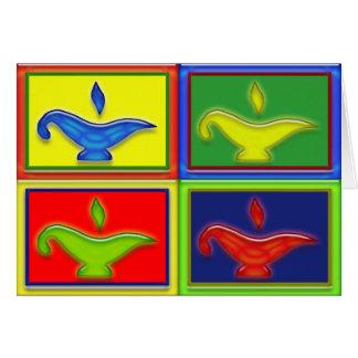 Colorful Lamps Diwali Card