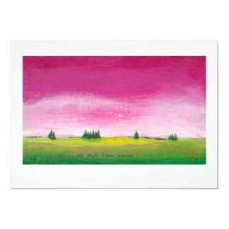 Colorful landscape art pretty peaceful In Time 5x7 Paper Invitation Card