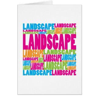Colorful Landscape Card