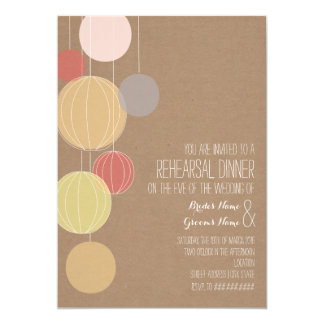 Colorful Lanterns Cardstock Inspired Rehearsal Card