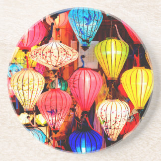 Colorful lanterns coaster