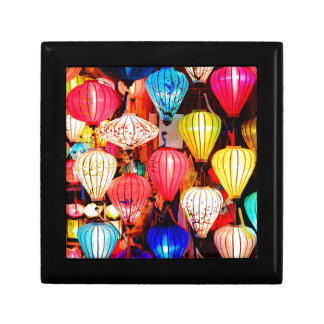 Colorful lanterns gift box