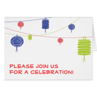 Colorful Lanterns Invitation Card