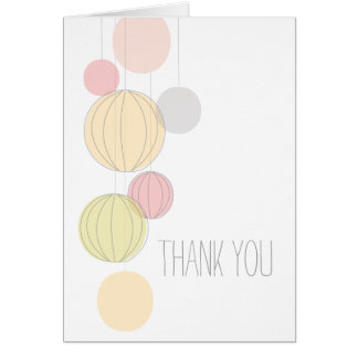 Colorful Lanterns Thank You Card