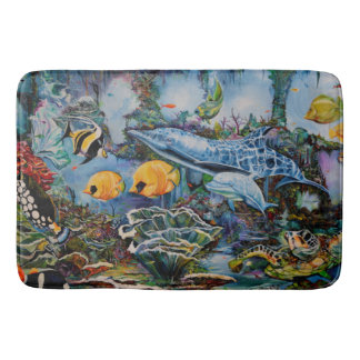 Colorful Large Aquarium Bath Mat
