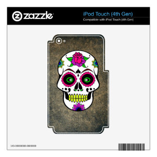 Colorful Large Candy Skull Decal For iPod Touch 4G